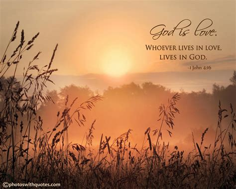 Whoever lives in God